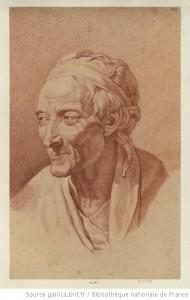 Portrait de Voltaire, auteur inconnue (Gallica.bnf.fr)