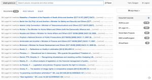 Capture d'écran du site d'Aleph.