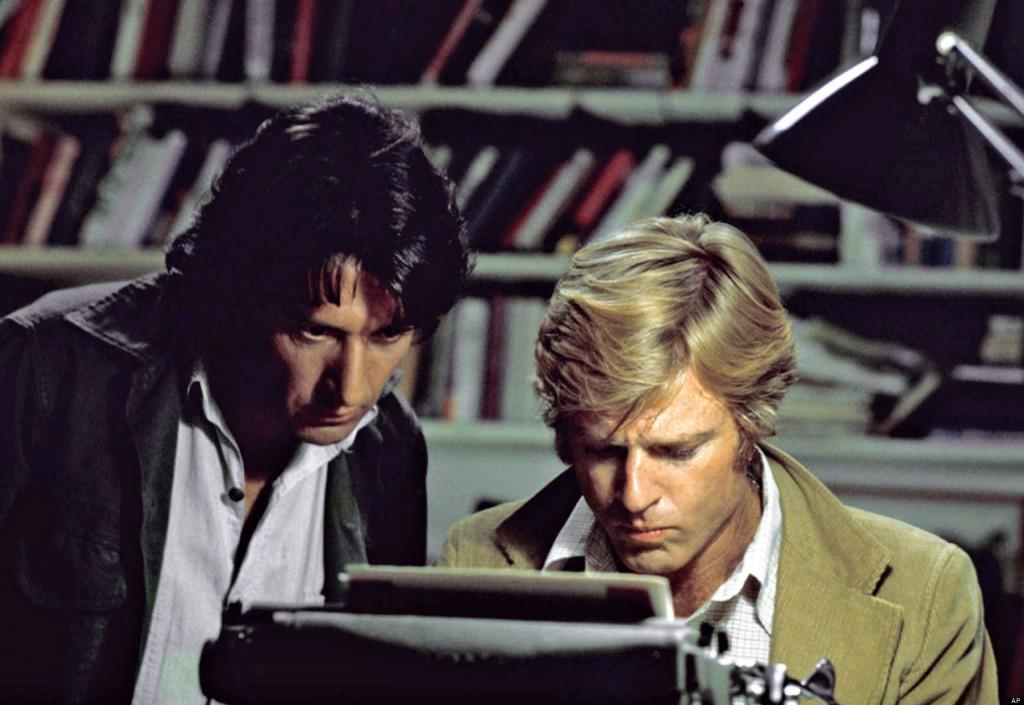 Dustin Hoffman et Robert Redford dans « Les Hommes du président »