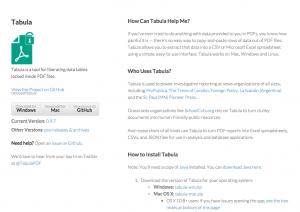 Capture d'écran du site de Tabula.