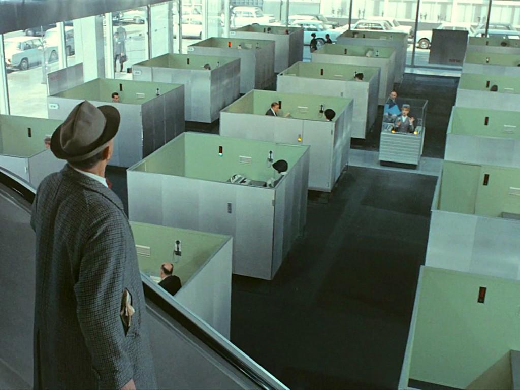 "Image extraite du fim ""Playtime"" de Jacques Tati."